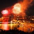 Fireworks over Budapest